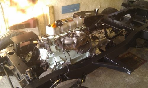 Motor im Chassis