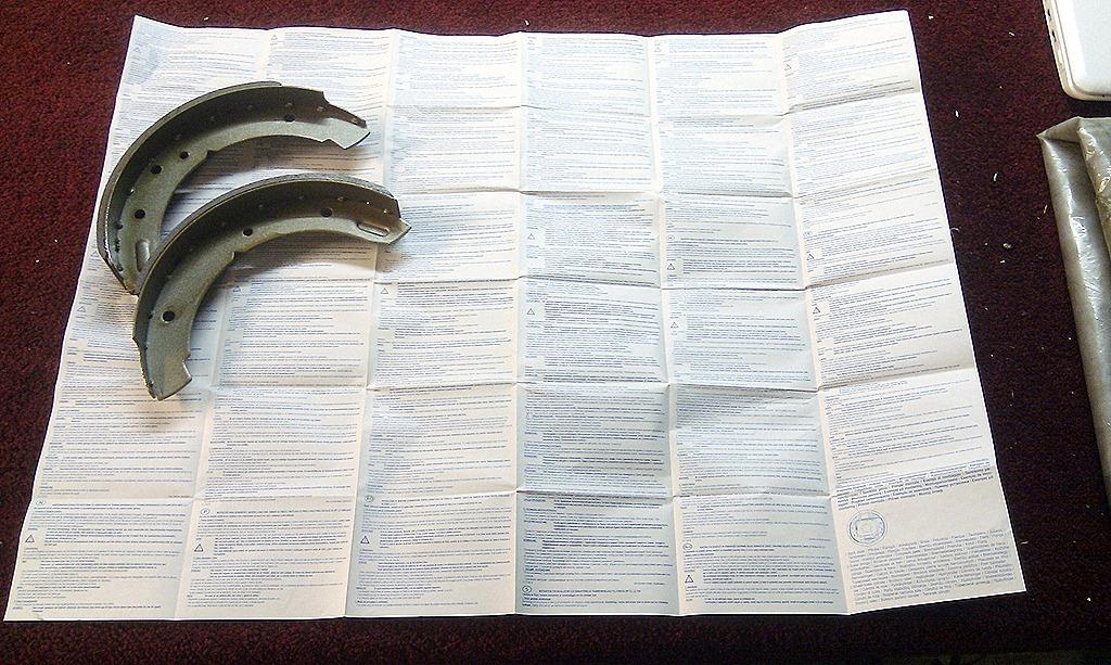bremsbacken - so klein und schon so viel Text